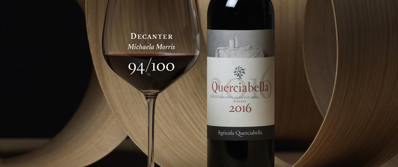 Decanter magazine scores Querciabella Chianti riserva