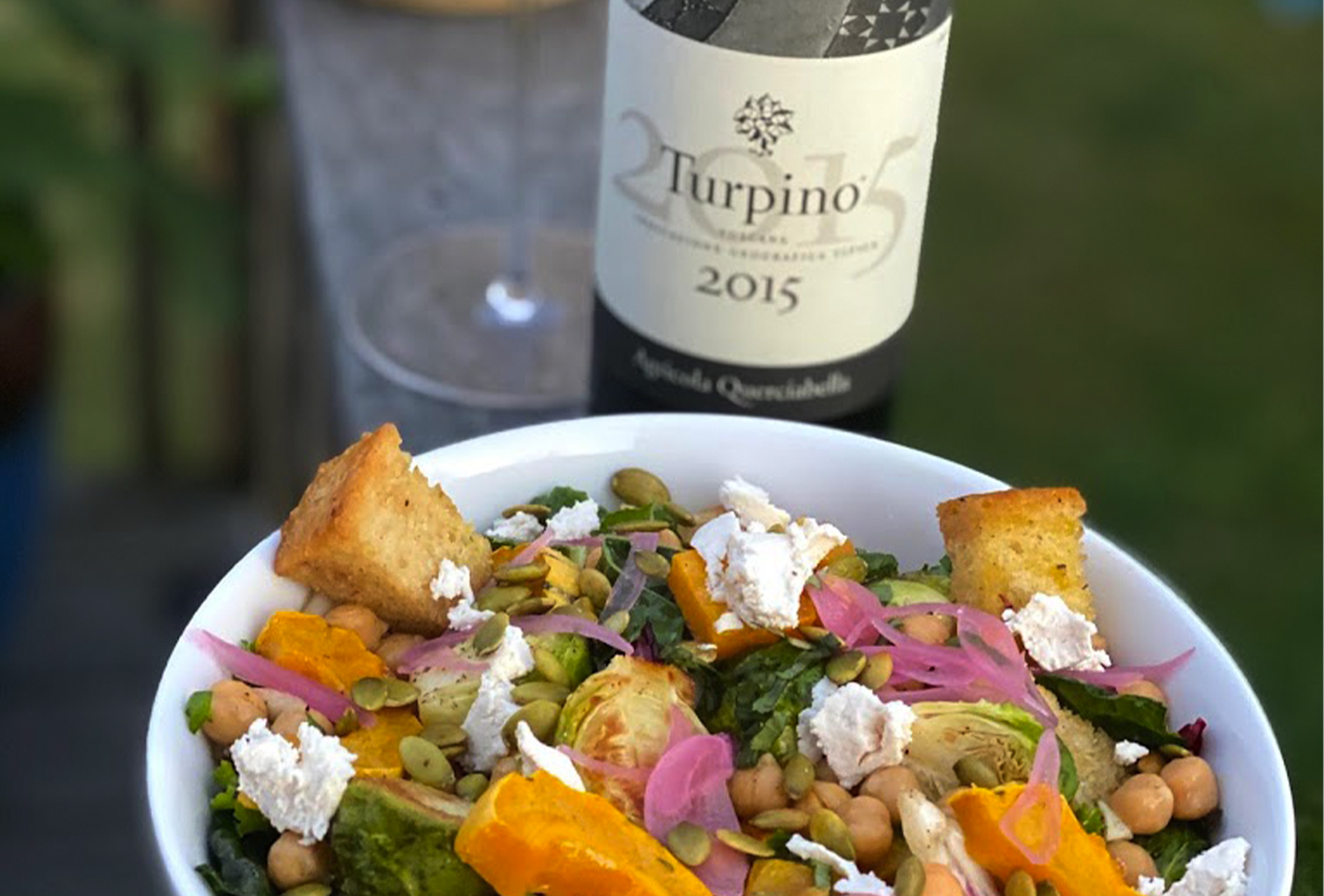 Querciabella Turpino with Autumn Panzanella Salad